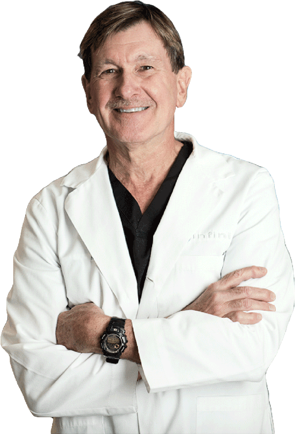 Dr Shuell - Infiniskin Cosmetic Surgeon - wearing white gown